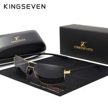 KINGSEVEN Design Da Marca Óculos Polarizados Homens Condução óculos de Sol  Quadrado Quadro Óculos Masculino Clássico Unisex Ócul. f3f14f444d