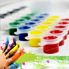 6pcs/set Painting Tool Acrylic Paint Kids Drawing Set 6 Colors High Quality for School Art Supplies Paint Sets