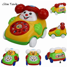 ISHOWTIENDA 2017 Educational Vocal Toys Cartoon Smile Phone Car Developmental Kids Toy Phones Christmas Gift Dropshipping(China)