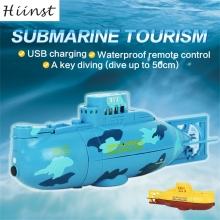 HIINST blue yellow two colors style dropship Radio Remote Controlled RC Submarine Toy Mini Underwater Submersible Aug15(China)