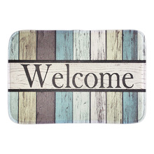 Buy Welcome Funny Doormat Colorful Striped Outdoor Indoor Floor Mats Home Decorative Door Mat Short Plush Fabric Bath Livingroom for $11.69 in AliExpress store