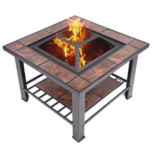 outdoor fireplace outdoor fire pit table barbecue grill table(China)