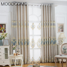 European Post Cashmere Embroidery Curtains for Living Dining Room Bedroom(China)