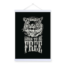 Modern Black White Tiger Head Inspirational Typography Quotes Art Print Poster Wall Picture Canvas Painting Home Decor No Frame
