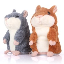 2017 Lovely Children Talking Hamster Plush Toy Sound Record Speaking Hamster Talking Toys New