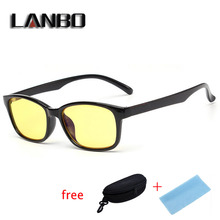anti blue ray glasses computer glasses UV400 fashion glasses with clear yellow lenses  Myopia Glasses Frames Men Eyewear 3028