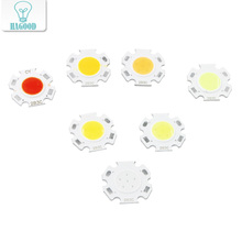 10pcs 3W COB LED Chip Pink  11mm Plum Blossom Shape LED Lamp Bulb for Spotlight Ceiling Light