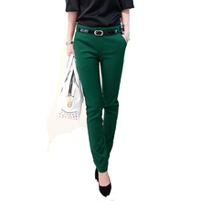 Trousers For Women Autumn/Winter New Office Lady 2017 Women's Long Pants Female Fashion Pencil Pants Ladies Casual Trousers(China)