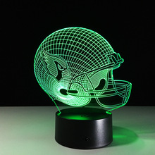 New NFL Arizona Cardinals Football Helmet Illusion LED Night Light Colorful Hologram 3D Desk Lamp for Home Decor Gifs(China)