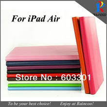 "For iPad Air 9.7"" High Quality Lychee pattern PU leather case cover,for ipad air 1 leather stand cover case purse"