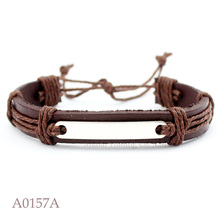(10PCS/lot) ANTIQUE SILVER BLANK BASE SETTING CHARM Adjustable Leather Cuff Bracelet for Men & Women CUSTOM Casual Jewelry