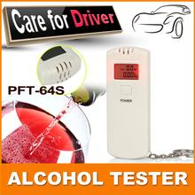 2015 Patent Factory Supply Digital LCD Alcohol Breath Tester Breathalyzer Analyzer Detector Test Keychain  Drop Free Shipping