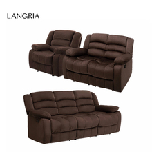 LANGRIA 1 set 6 Manual Recliner Sofa Chair with Pillow Top Backrest, Armrests and Elevating Footrest 330 lbs Capacity