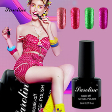 Saroline 3D Paint Fingernails Gel Nail Polish Shining Glitter Platinum UV LED Gel Lacquer Primer Top Base Gel Varnish(China)