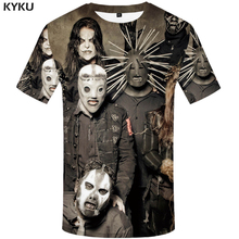 Buy KYKU Brand Gothic T shirt Slipknot Clothing Punk Shirts Rocking Tees Clothes Tops Men 3d T-shirt Mens Sexy Male Top for $6.96 in AliExpress store