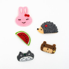 GG & MM jewelry children hair accessories wholesale non - woven cartoon rabbit Tottenham hair clip animal BB folder(China)