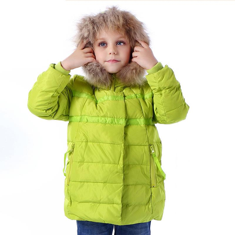 2017 winter children down jacket long  style Korean Down coat  hair tie hat girl coats Outwear 2-7 year <br>