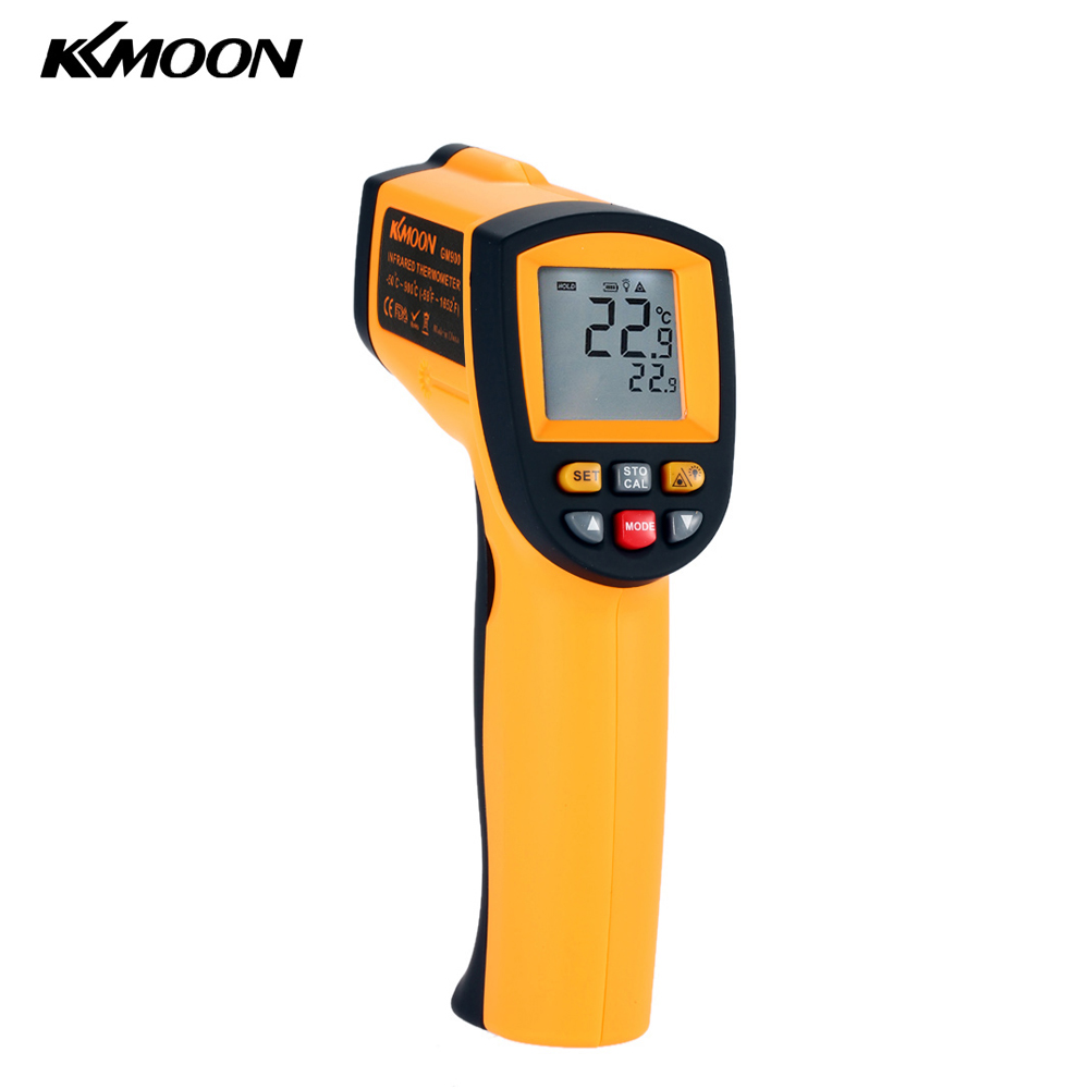 Kkmoon Infrared Thermometer Laser Non-contact IR Digital Temperature Tester Pyrometer Range(China (Mainland))