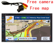 Reverse Parking System,7 inch Vehicle GPS Navigation +Wireless Rear View camera+free latest maps