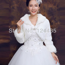 Wedding shawl hair vest Ladies Fashion ivory Synthetic Leather Jacket Bridal Wedding Wraps Dress Tippet Shawl winter Accessories