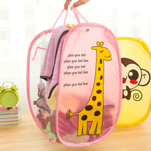 2017 Cute Cartoon Folding toy box organizer Clothe Laundry Bucket Storage Basket Children's Toys Shoes Sundries Storage Box
