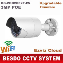 Hikvision 3MP wifi wi-fi wi fi wireless POE IP Outdoor camera DS-2CD2032F-IW replace ds-2cd2032-i ds-2cd2032f 2cd2032(China)