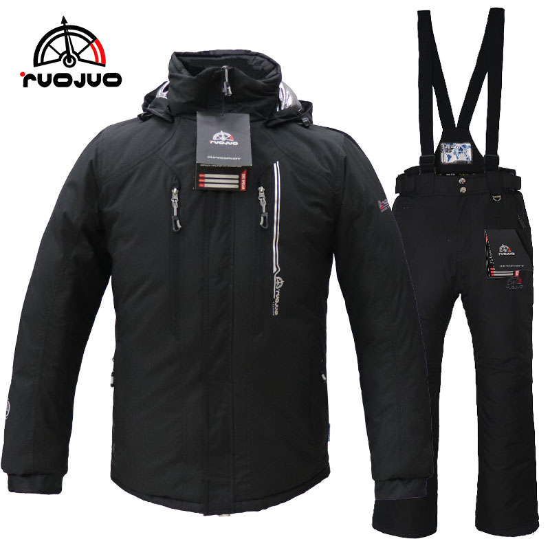 man ski suit winter wear