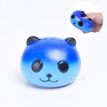9.5cm Funny Squeeze Galaxy Panda Baby Cream Scented Squishy Slow Rising Fun Soft Novelty Funny Gadgets Anti Stress Toys Gift(China)