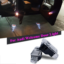 2pcs LED Laser Projector Car Courtesy Logo Light for Audi A3 A4 b6 b8 b7 A5 A6 c5 c6 c7 80 q7 q5 q3 A1 A2 A7 A8 TT Sline S3 S4