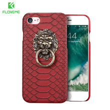 FLOVEME Luxury Stand Phone Cases For iPhone 6 6s 4.7 7 Plus 5s 3D Lion Hard Kickstand Back Cover Case for iPhone 7 6 6s Conque