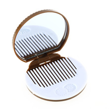 10pcs/set High Quality Brown Cute Cookie Shaped Design Mirror Makeup Chocolate Comb(China)