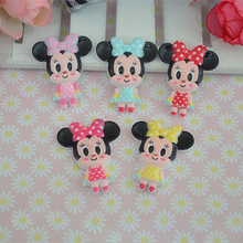 20pcs/lot Mixed Kawaii Minnie Miniatures For Hair Bow Resin Flat back Cabochons Scrapbooking Phone Embellishments Resin Crafts