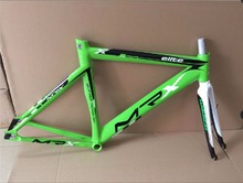 Cool price Wissco MRX  break wind aluminum alloy 735 frame 700c 52cm pink green white  fixed gear bike frame with fork