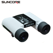 SUNCORE Colorful white sport childrens binoculars 8x25 small HD pocket binoculars handheld compact kids binoculars telescope(China)