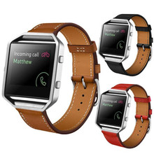 2017 Fabulous Luxury Genuine Leather Watch band Wrist strap For Fitbit Blaze Smart Watch wholesale No25