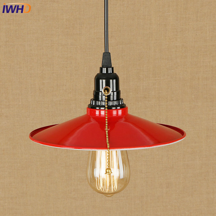 IWHD RH Vintage LED Pendant Lamp Industrial Loft Pendant Light Droplight Loft Hanglamp Fixtures For Home Lighting Luminaire<br>