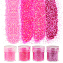 4 Bottle/Set Pink Nail Art Dust Tools 1Box 10g Sequins Glitter Nail Acrylic UV Gel Polish Glitter Nail BG049-052(China)