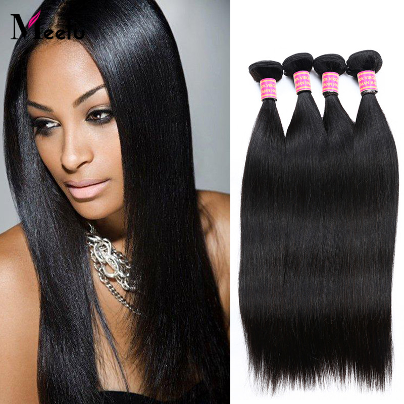 Hot Sale Brazilian Virgin Straight Hair 3Pcs Human Hair Weaves Brazilian Cheap Human Hair Extensions Fast Free Shipping 8-28Inch<br><br>Aliexpress