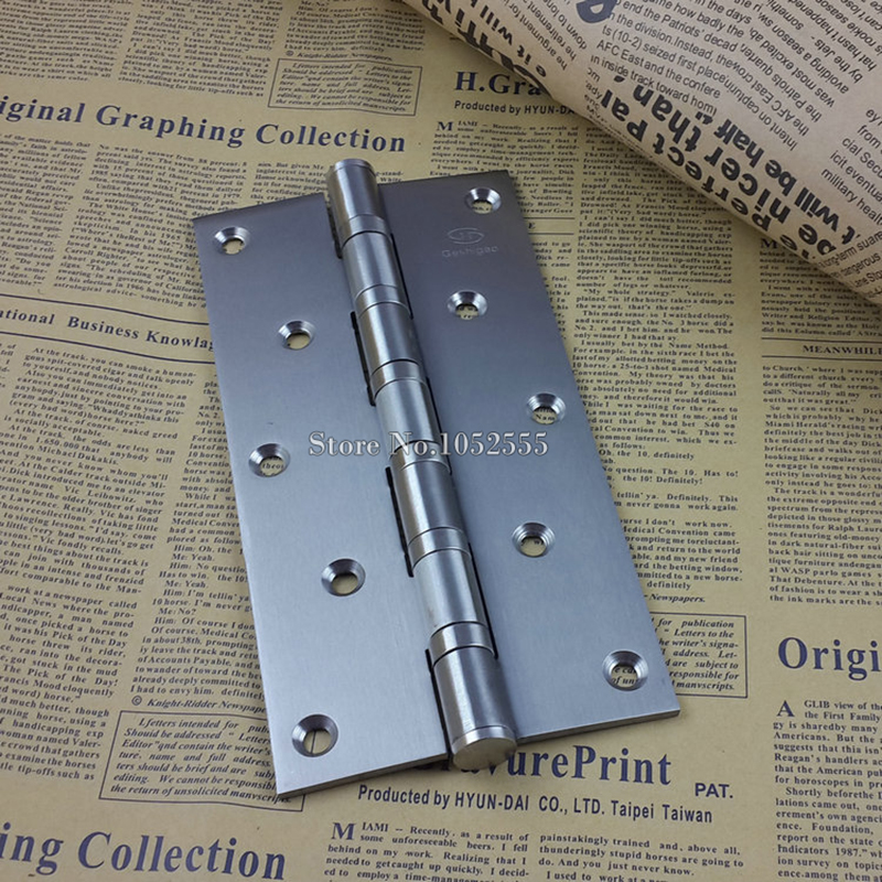 "Thickness 8"" Stainless steel Wooden Door Hinge Heavy Duty Hinges Mute Door Project Auxiliar Hardware With Screws K152(China)"