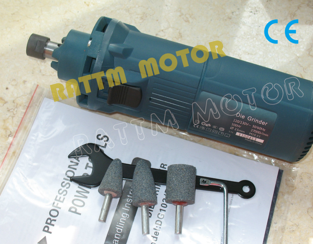 500W Air Cooled Miling motor AC 220V Spindle Motor with 6mm collet<br>