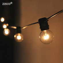 ZINUO 3M 10PCS G40 Bulb LED Globe String Light AC220V Ball Garland Patio Outdoor Fairy Light Christmas New Year Party Decoration