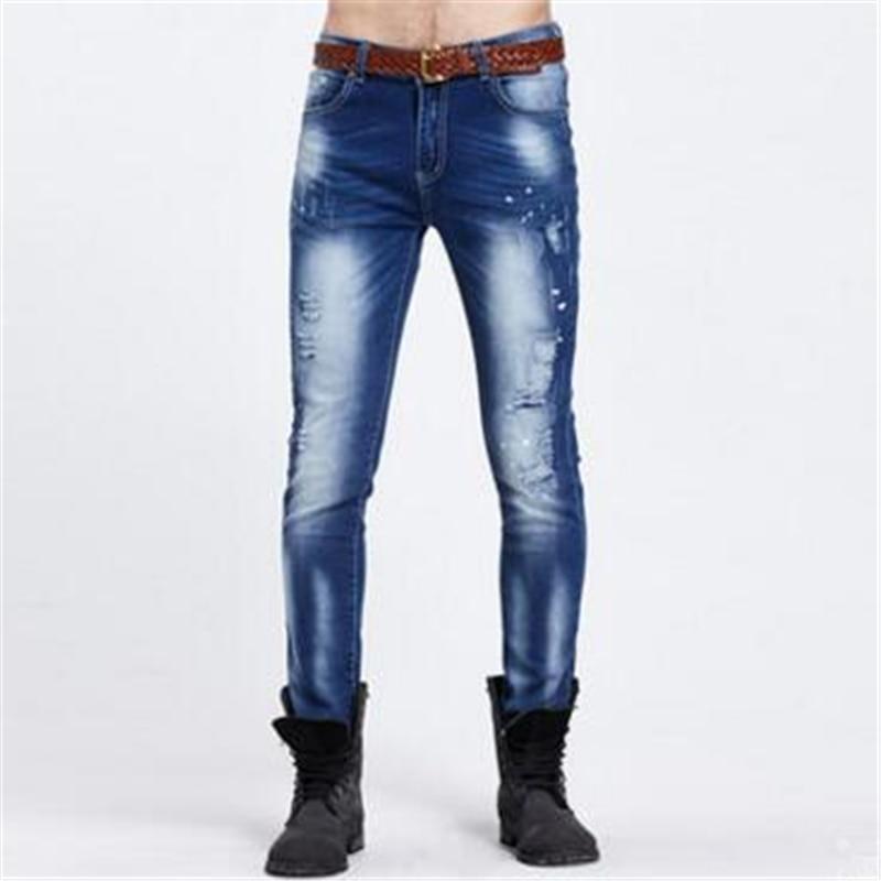 2017 men brand ripped jeans for men joggers biker skinny designer jeans rockstar hip hop  jeans New fear of gd jeansОдежда и ак�е��уары<br><br><br>Aliexpress