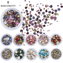 16 Patterns Nail Crystal Rhinestones Set Multi-size Sharp Bottom Mixed Color Nail Art 3D Decoration Manicure DIY(China)