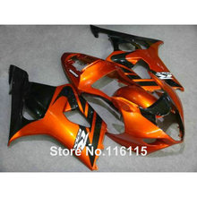 100% fit for SUZUKI Injection molding GSXR1000 fairing kit K3 K4 2003 2004 brown black fairings set GSXR 1000 03 04 AP34