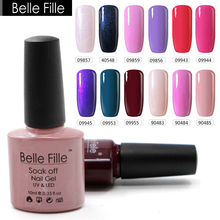 10ml Nude UV Gel Nail Polish Pink Red Lavender Bling Led Soak Off Gel Polish Varnish Profissional Manicure Vernis Semi Permanent(China)