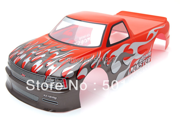 NO:029 R rc parts PVC 1/10 painted shell body for 1:10 RC car  190mm  free shipping<br><br>Aliexpress