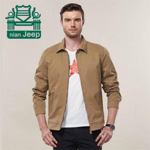 Nian AFS Jeep 2016 NEW 2015 European military casual men's spring100% pure cotton khaki jackets coat man autumn army green coats