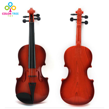 Simulation Violin for Kids Musical Instrument Toy Violin with Bow Gifts for Children