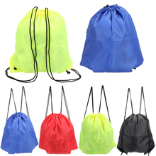 Buy 41*33cm Waterproof Nylon Storage Bags Drawstring Backpack Baby Kids Toys Travel Shoes Laundry Lingerie Makeup Pouch for $1.01 in AliExpress store