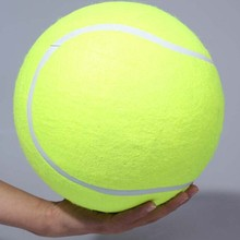 1PCS 24CM Big Inflatable Tennis Ball Giant Pet Toy Tennis Ball Kids Outdoor Toy Ball Supplies Dog Chew Ball Toy(China)